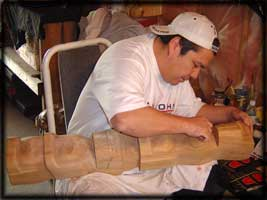 west coast first nation art carver gary baker