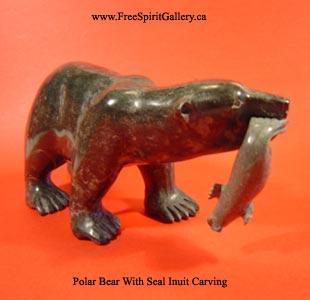 inuit art carving polar bear