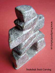 inuit art inukshuk carving sculpture
