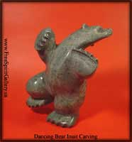 Inuit Art Dancing Polar Bear