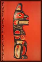 Northwest Coast Indian Art Bear Carving