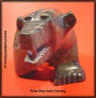 Inuit carving of polar bear