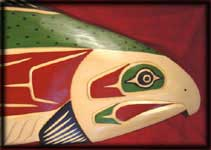 northwest native american art salmon carving