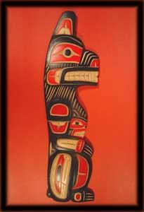 北西アメリカ原住民アート - 北西原住民インディアンアート彫刻