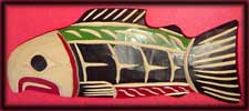 canadian aboriginal art salmon fish carvings