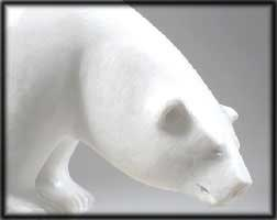 white inuit polar bear sculptures