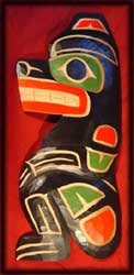 northwest coast native art bear carving