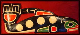 northwest coast native art killer whale carving