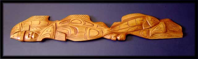 northwest native indian art carving salmon