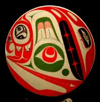 Northwest Coast Aboriginal Art Native Drums Haida Artist Robert Davidson