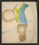 inuit art prints drum dancer
