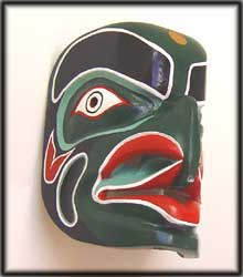 west coast indian art mask tribal northwest native