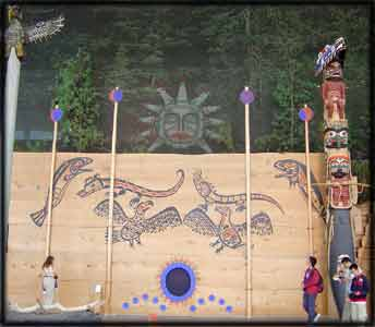 Northwest Pacific Coast Native Indian Nuu Chah Nulth Longhouse