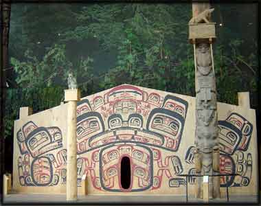 Northwest Pacific Coast Native Indian Tsimshian House