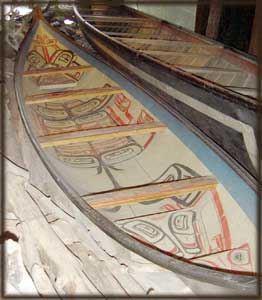 image northwest native american indian canoe boat art