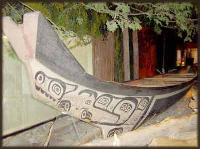 image northwest native american indian canoes boats art