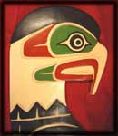 image northwest indian art carvings eagles birds native american