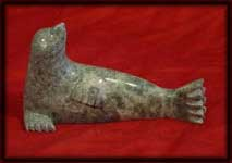 image Inuit art carvings seals