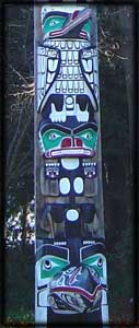 west coast art totem poles native indian