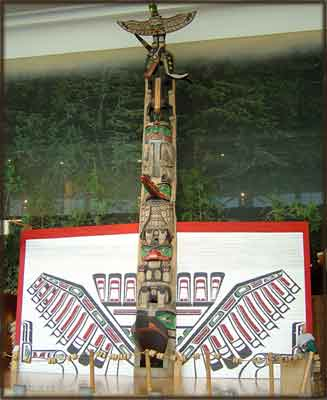 image native american totem pole designs