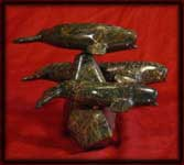 image inuit art carvings whales